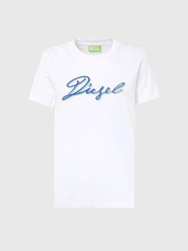 Nachhaltig hergestelltes T-Shirt mit Diesel-Logo