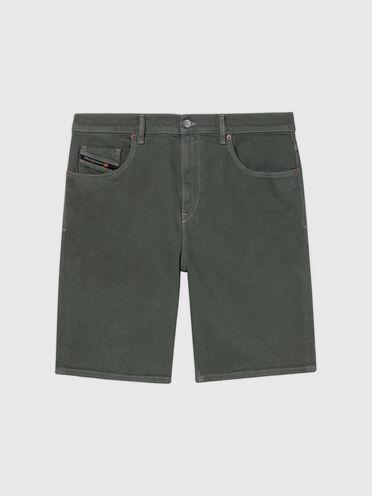 Shorts im Slim Fit aus farbigem JoggJeans®-Material