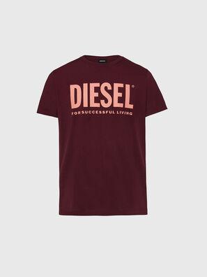 T-DIEGO-LOGO, Bordeauxrot - T-Shirts
