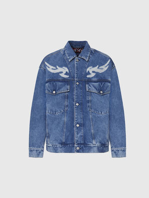 D-RAF, Mittelblau - Denim jacken