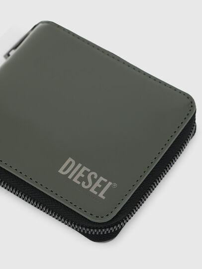 Diesel - HIRESH XS ZIPPI, Armeegrün - Portemonnaies Zip-Around - Image 4