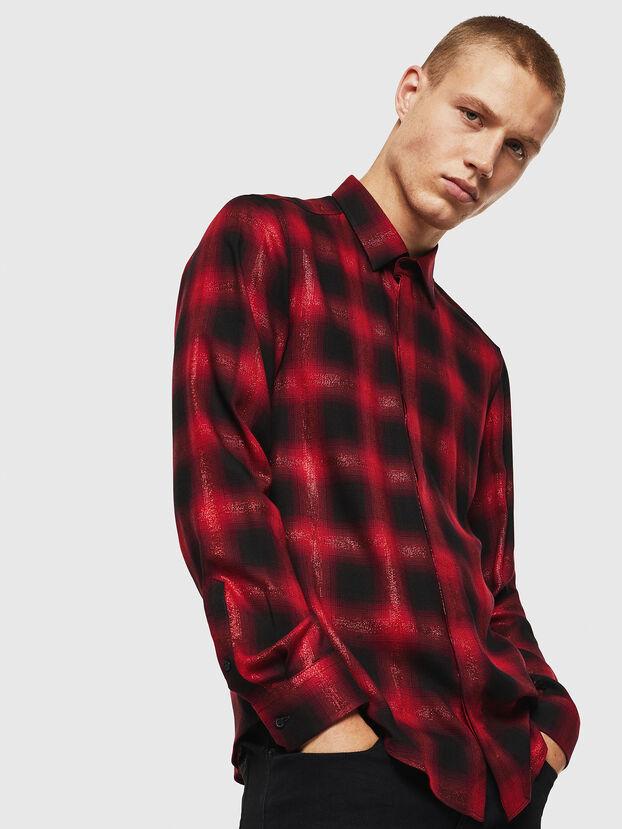 S-MARLENE-C, Rot/Schwarz - Hemden