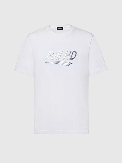 Diesel - T-JUST-SLITS-X83, Weiß - T-Shirts - Image 1