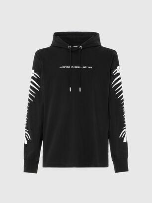T-JUST-LS-HOOD-A6, Schwarz - T-Shirts