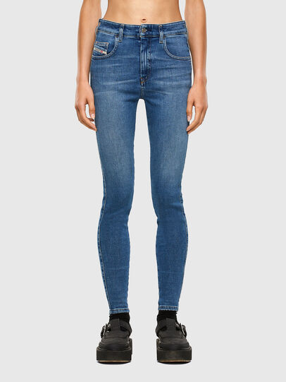 Diesel - Slandy High 009AG, Mittelblau - Jeans - Image 1