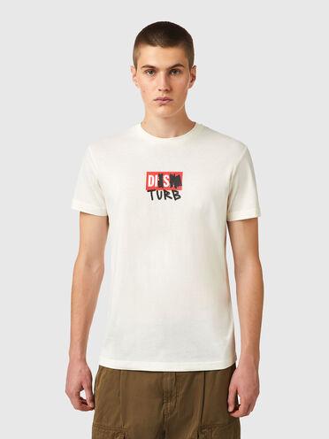 Green Label T-Shirt mit DISTURB-Logo