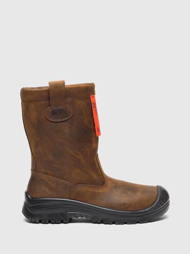 Chelsea-Boots aus Leder in Used-Optik