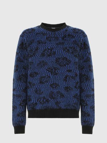 Pullover in Jacquard-gewebter Animal-Optik