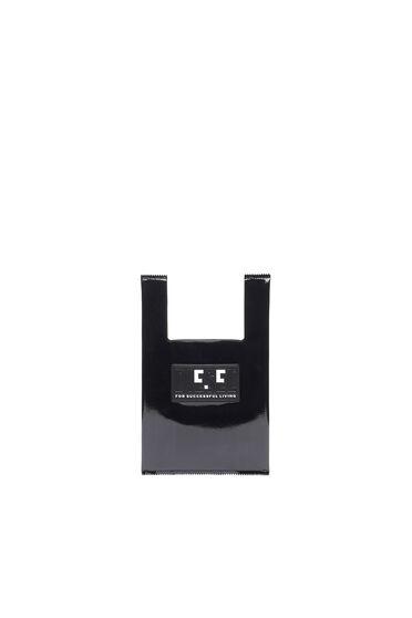 Kleine Shopping-Tasche mit Emoji-Logo-Aufnäher