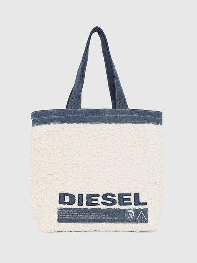 Diesel - F-THISBAG SHOPPER NS, Weiß/Blau - Shopper und Schultertaschen - Image 1