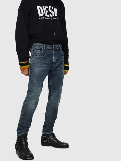 Diesel - Krooley JoggJeans 0870W, Mittelblau - Jeans - Image 1