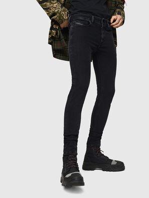 Sleenker 0870G, Schwarz/Dunkelgrau - Jeans