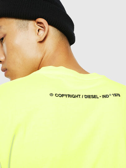 Diesel - T-JUST-SLITS-FLUO, Neongelb - T-Shirts - Image 4