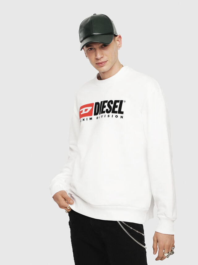 Diesel - S-CREW-DIVISION, Weiß - Sweatshirts - Image 1