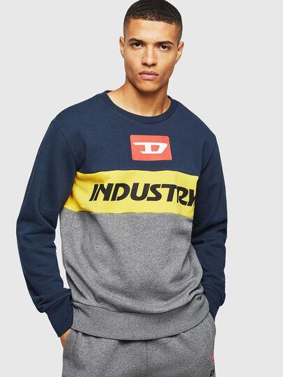 Diesel - UMLT-WILLY, Blau/Grau - Sweatshirts - Image 1
