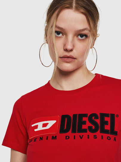Diesel - T-SILY-DIVISION, Feuerrot - T-Shirts - Image 3