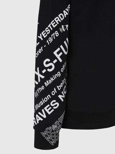 Diesel - S-GIRK-FOLDED, Schwarz - Sweatshirts - Image 4