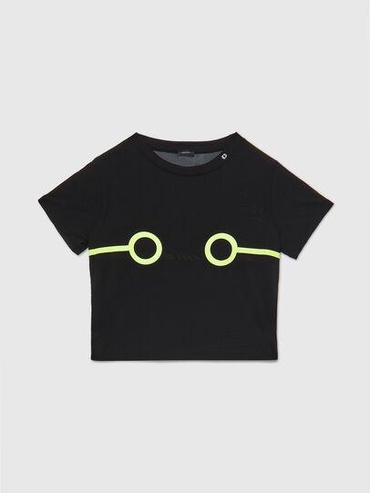 Diesel - UFTEE-ROUNDFEM-M, Schwarz - T-Shirts - Image 1