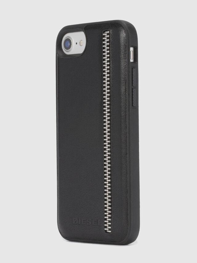 Diesel ZIP BLACK LEATHER IPHONE 8 PLUS/7 PLUS/6s PLUS/6 PLUS CASE, Schwarz - Schutzhüllen - Image 6