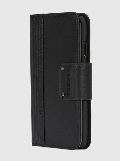 Diesel - BLACK LINED LEATHER IPHONE X FOLIO,  - Klappcover - Image 3