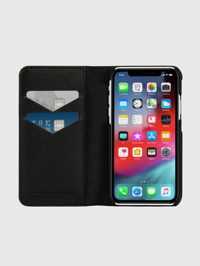 Diesel - DIESEL 2-IN-1 FOLIO CASE FOR IPHONE XR, Schwarz/Weiß - Klappcover - Image 7