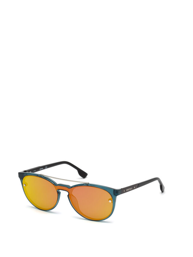Diesel - DL0216, Blau/Orange - Brille - Image 4