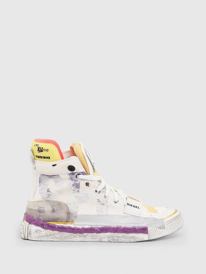 Diesel - S-ASTICO PNT W, Weiß/Rosa - Sneakers - Image 1