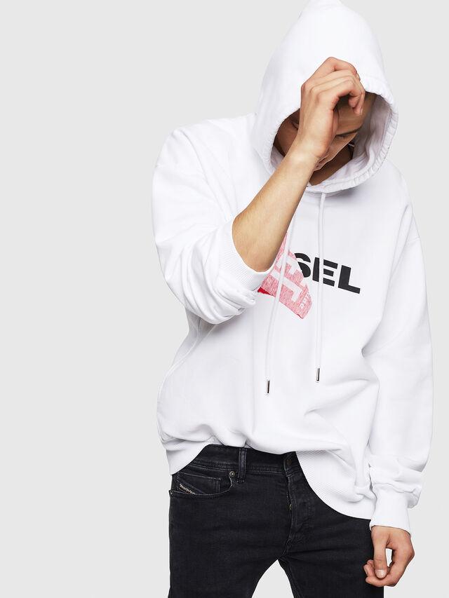 Diesel - S-ALBY, Weiß - Sweatshirts - Image 4