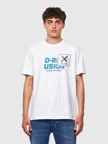 T-Shirt mit Diesel Industry-Print
