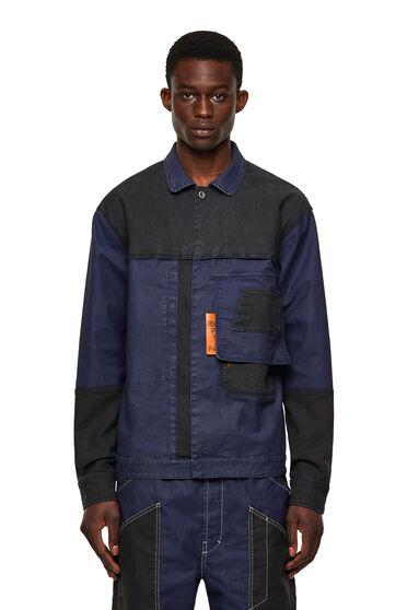 Jacke aus zweifarbigem JoggJeans-Stoff