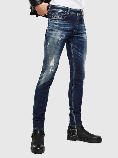 Diesel - Sleenker 0097L, Dunkelblau - Jeans - Image 1