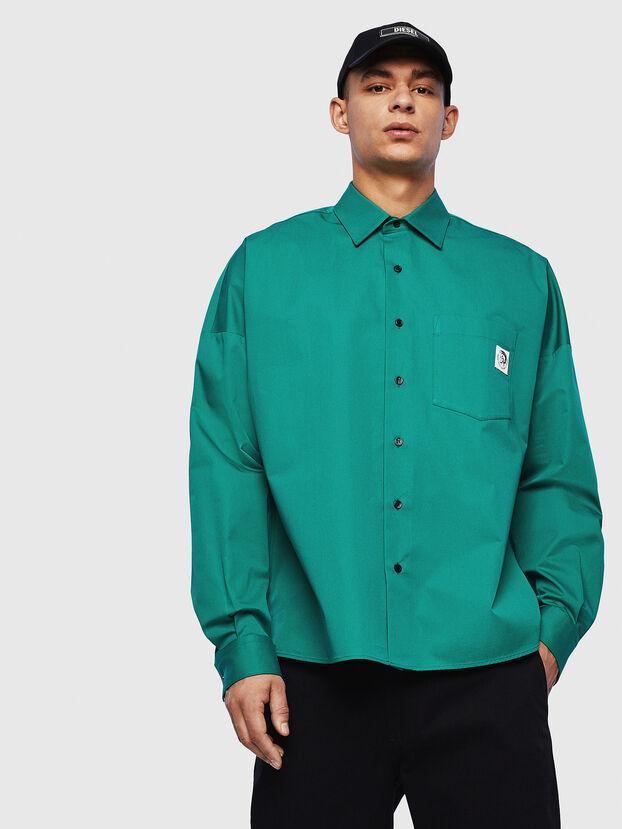 S-LOOMY, Grün - Hemden