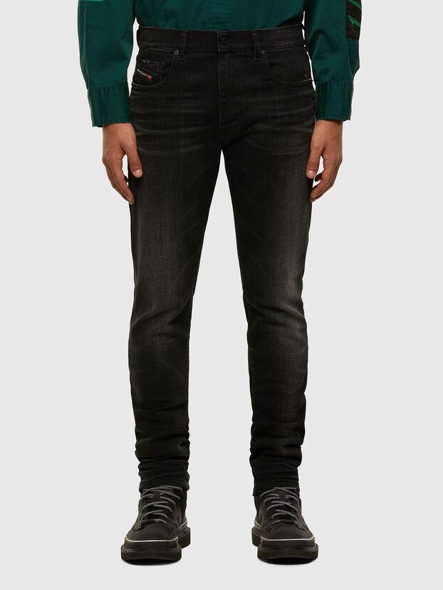 D-Strukt 0098B, Schwarz/Dunkelgrau - Jeans