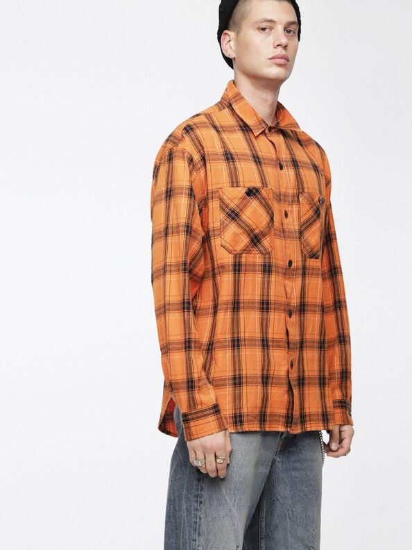 S-OIZE, Orange/Schwarz - Hemden