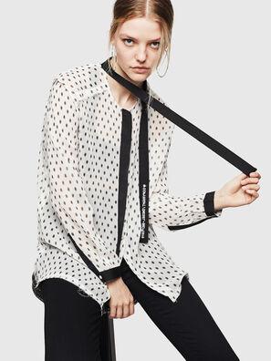 C-SAKURA-B, Weiß/Schwarz - Hemden