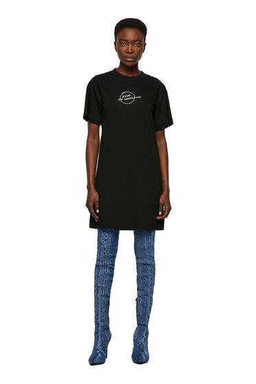 T-Shirt-Kleid mit Logo-Stickerei
