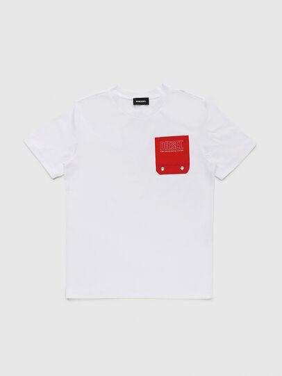 Diesel - TBMOW, Weiß/Rot - T-Shirts und Tops - Image 1