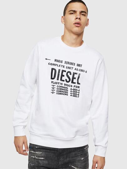 Diesel - S-GIR-B5, Weiß - Sweatshirts - Image 1