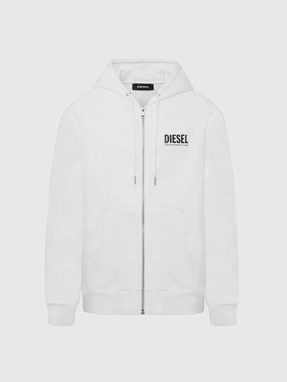 Diesel - S-GIRK-HOOD-ZIP-LOGO, Weiß - Sweatshirts - Image 1
