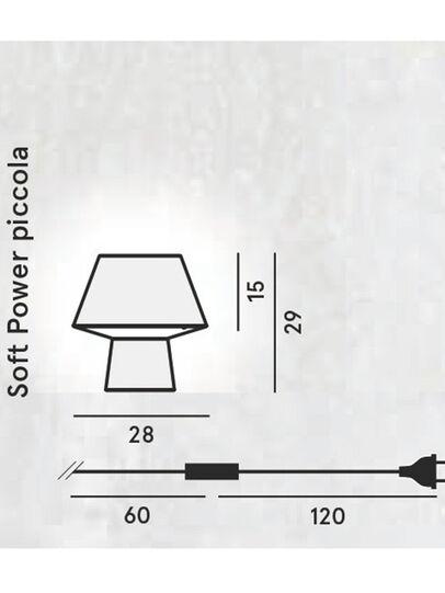 Diesel - SOFT POWER PICCOLA, Schwarz - Tischlampen - Image 2