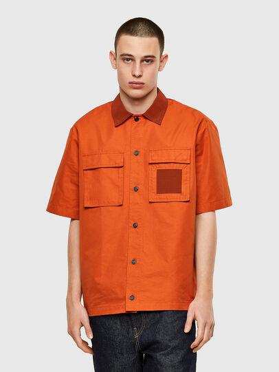 Diesel - S-GUNN, Orange - Hemden - Image 1