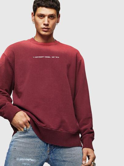 Diesel - S-BAY-SUN, Bordeauxrot - Sweatshirts - Image 3