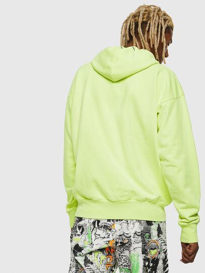 Diesel - S-ALBY-FLUO, Neongelb - Sweatshirts - Image 3