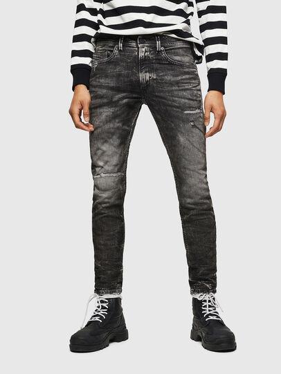 Diesel - Thommer JoggJeans 0890B, Schwarz/Dunkelgrau - Jeans - Image 1