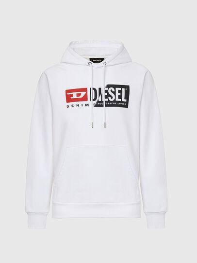 Diesel - S-GIRK-HOOD-CUTY, Weiß - Sweatshirts - Image 1
