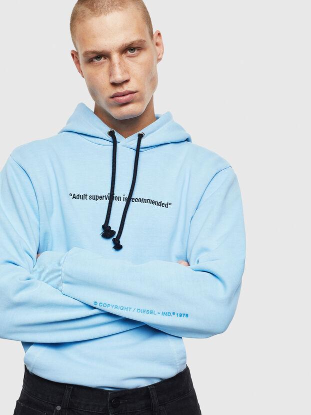 S-GIRK-HOOD-FLUO, Azurblau - Sweatshirts