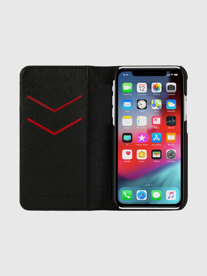 Diesel - DIESEL 2-IN-1 FOLIO CASE FOR IPHONE XR, Schwarz/Weiß - Klappcover - Image 6