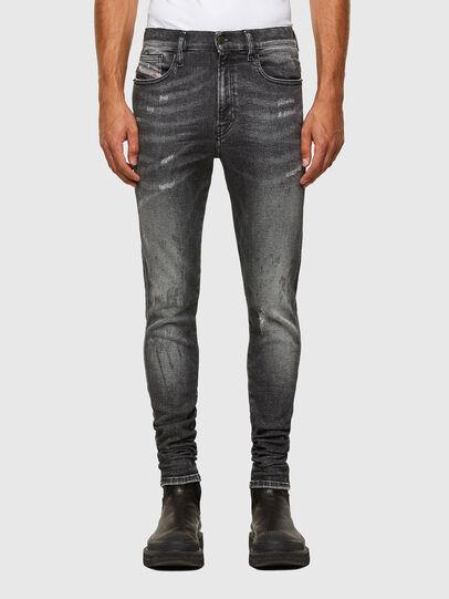 Diesel - D-Istort 009EX, Schwarz/Dunkelgrau - Jeans - Image 1