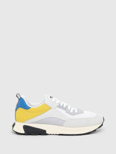 Sneakers aus Netzstoff, Ripstop und Wildleder