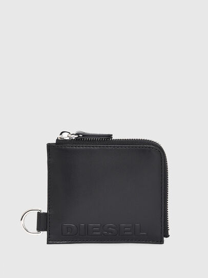 Diesel - L-ZIP CHAIN, Schwarz - Portemonnaies Zip-Around - Image 1